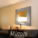 mirrors series metal wall art, modern metal sculpture, contemporary metal wall decor in a modern room