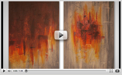 Contemporary paintings in a video on YouTube