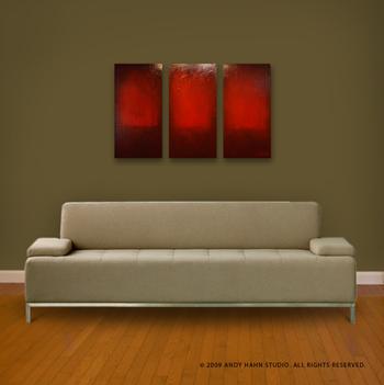 online art gallery item: abstract painting, original art in a modern decor
