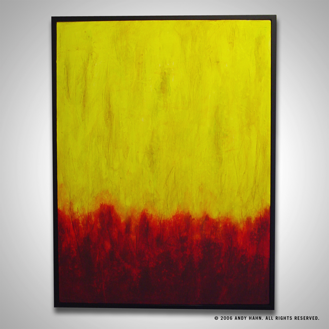 abstract paintings, original art, contemporary painting, red, yellow, black frame