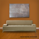 Original series metal wall art, modern metal sculpture, contemporary metal wall decor in a modern room