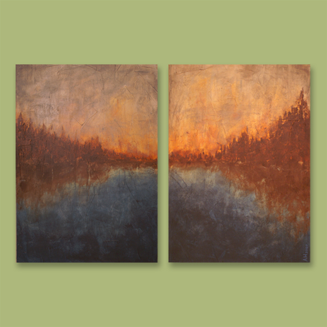 ... Art Sale, Painting Sale, Modern And Contemporary Art, Diptych, Abstract  Paintings